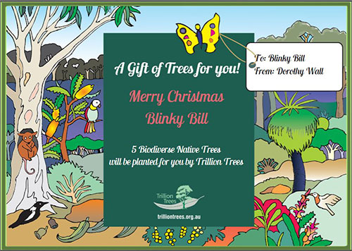Trillion Trees Christmas Gift Card