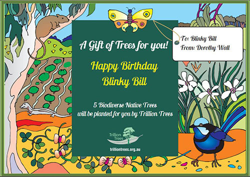Trillion Trees Christmas Gift Card