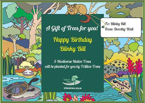 Trillion Trees Birthday Gift Card V4