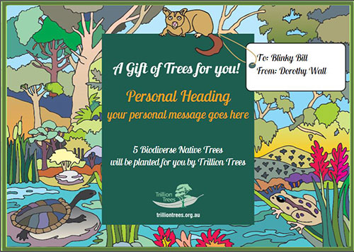 Trillion Trees Personalised Card V4